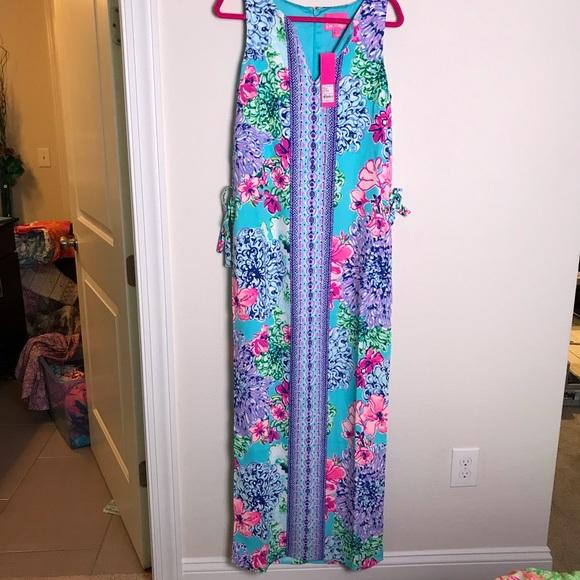 3ef51cec24fb60 Lilly Pulitzer Dresses | Nwt Size 8 Donna Maxi Romper | Poshmark